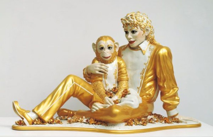 Michael Jackson and Bubbles, 1988, © Jeff Koons