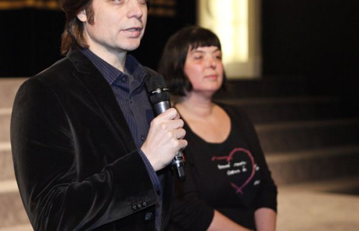 Michael Di Jiacomo (SOMEWHERE TONIGHT) im Filmemachergespräch mit Andrea Wink (exground filmfest), © exground filmfest